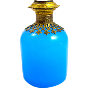 Palais Royal Blue Opaline Glass Perfume Bottle