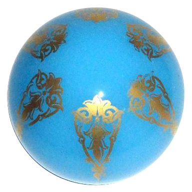 Baccarat Blue Opaline and Gilded Paperweight.