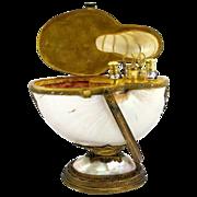 Rare Palais Royal Nautilus Sewing Set