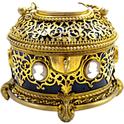Palais Royal Cameo Scent Casket circa 1860
