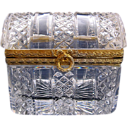 Antique French Cut Crystal Casket