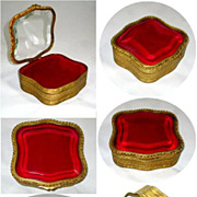 French Napoleon III bronze dore box