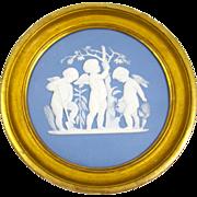 Large Limoges Porcelain Pate sur Pate Cherubs Plaque