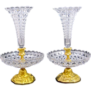 Antique Pair of BACCARAT Crystal Vases