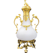 LARGE Antique Palais Royal French Opaline Glass Perfume Bottle
