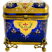 Antique Bohemian Enamelled Casket Box