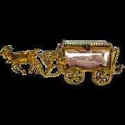 Antique Palais Royal Goat Cart Pulling a Casket Box