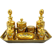 Rare Antique Moser Dressing Table Set