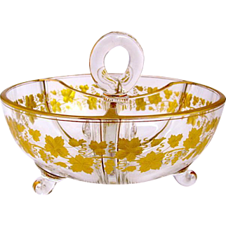 Antique French St Louis Gilded Bowl