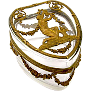 Napoleon III Crystal Heart Shaped Casket Box