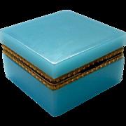 Murano Blue Opaline Casket Box