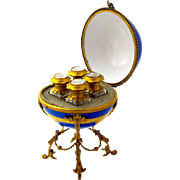 Palais Royal Hand Painted Porcelain 4 Perfume Casket Box