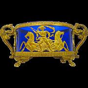 Napoleon III Dore Bronze & Crystal Bon Bon Dish