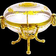 Signed Alph Giroux Paris Large Antique Crystal Casket