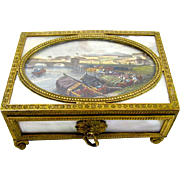 A Fine Rectangular Charles X Palais Royal Mother of Pearl Box.