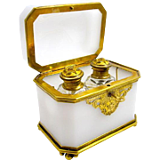 Antique Baccarat Opaline Glass Perfume Casket Box