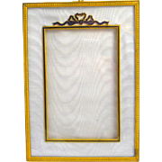 Antique Empire Dore Bronze & Enamel Frame