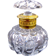 Antique Baccarat Cut Crystal Perfume Bottle