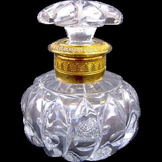 Antique Baccarat Cut Crystal Perfume Bottle
