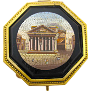 Museum Quality Antique Italian Grand Tour Micro Mosaic Jewellery Box