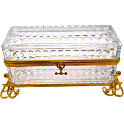 Wonderful Large BACCARAT Crystal Casket Box