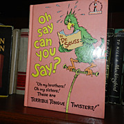 Oh Say Can You Say? By Dr Seuss 1st Printing 1979