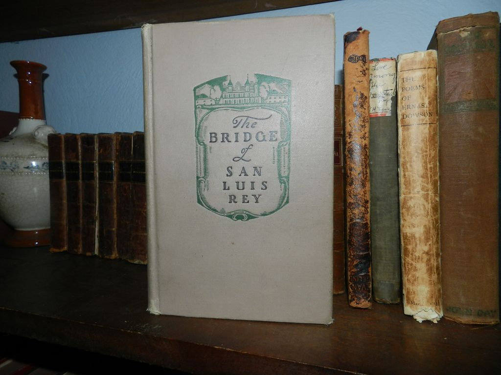 SIGNED The Bridge of San Luis Rey 1st printing Thorton Wilder 1927