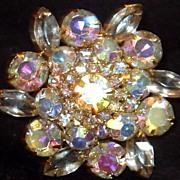 Stunning vintage Juliana Rhinestone brooch Yummy!