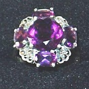 Gorgeous Amethyst and Marquisette Antique Ring