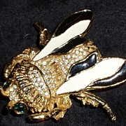 Big and unique! Kenneth J Lane Enamel Fly Brooch!