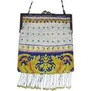 Lovely micro beaded antique purse