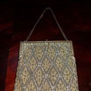 Wonderful antique micro beaded purse
