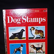 A Little Golden Activity Book DOG STAMPS 1955 UN-USED near mint