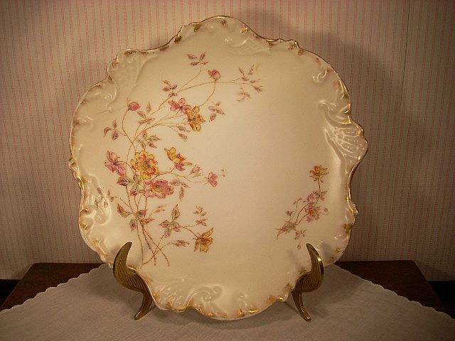 "Beautiful J. Pouyat Limoges Cake or Cookie Plate 10"" in Diameter"