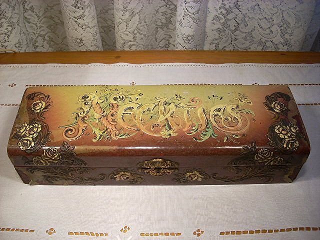 Lovely Old Celluloid Dresser Box for Neckties
