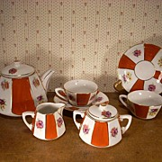 Doll or Children's Porcelain Tea Set in Excellent Condition. Made in Germany