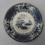 "Lovely Blue English Transferware Butter Pat Allerton's ""Chinese"" Pattern"