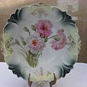 Lovely Large German Serving Bowl with Carnations