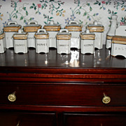 Child's Miniature Porcelain Canister Set. Made in Japan