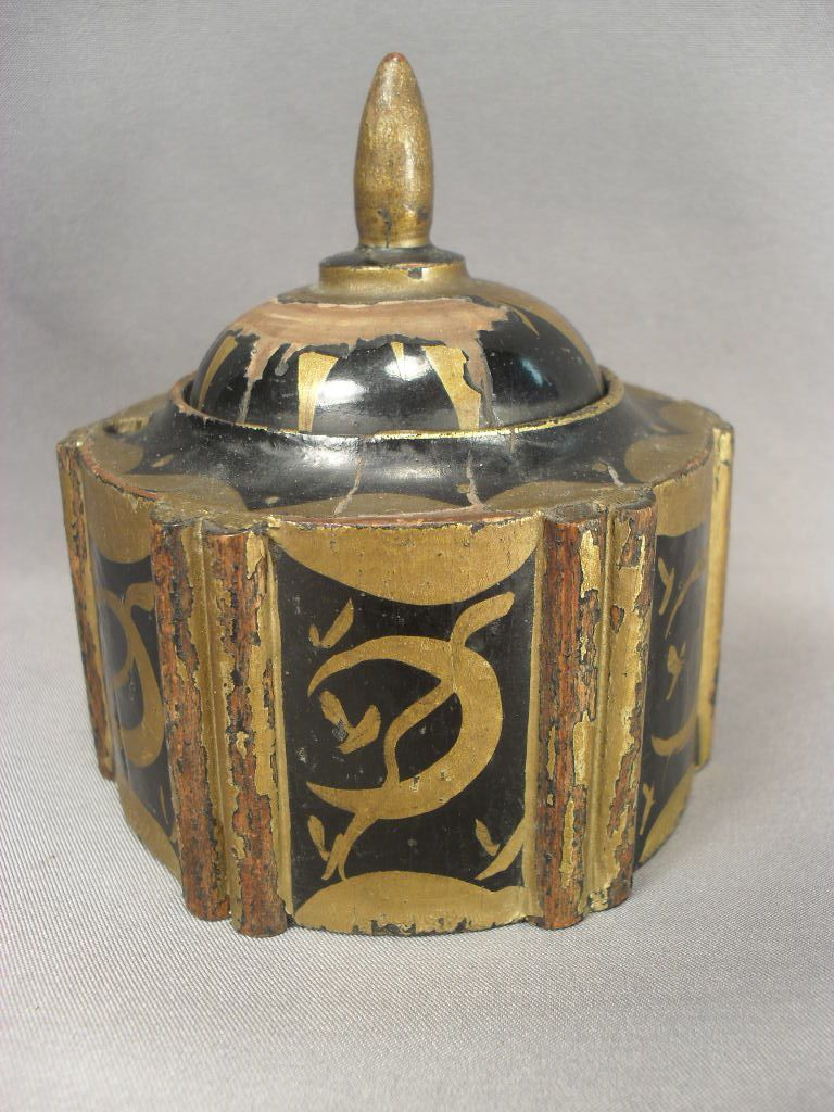 Small Wooden Inkwell from Germany