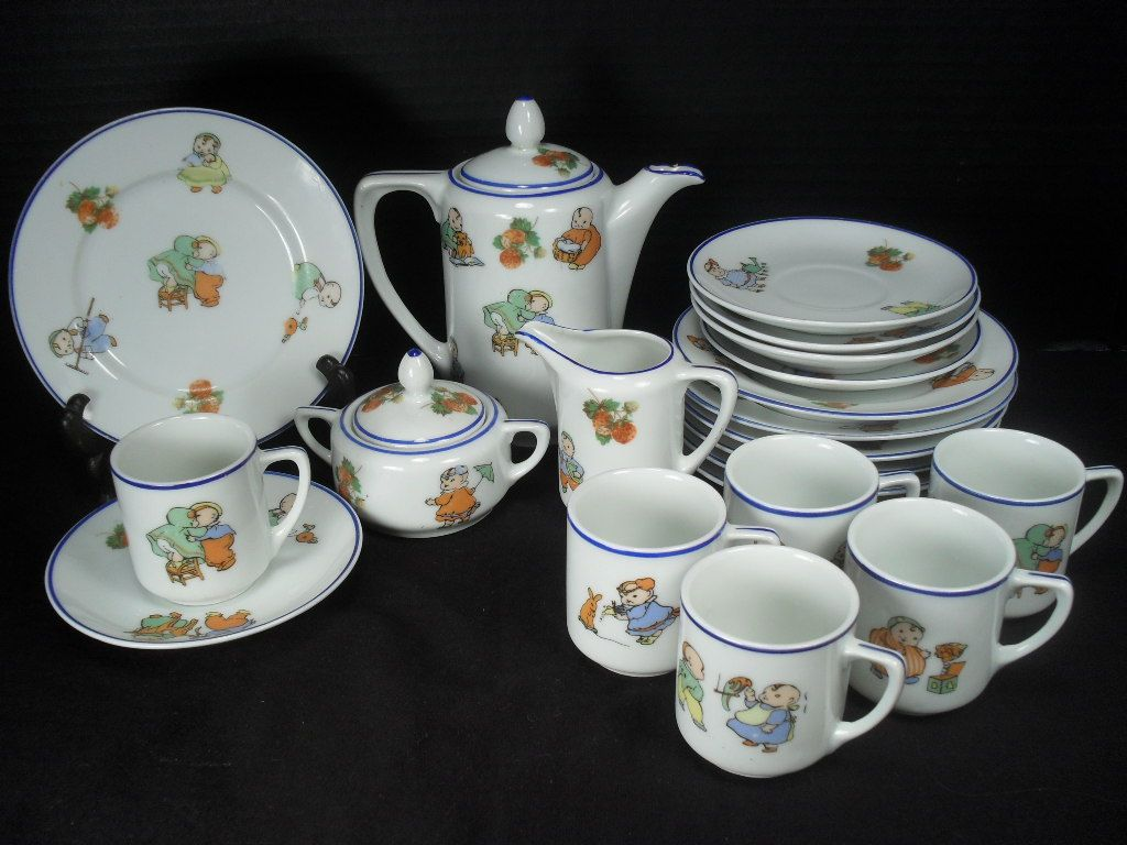 Happifats Children's Tea or Coffee Set - Complete 23 Pieces