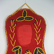 Iroquois Beaded Picture Frame. Great Lakes Tourist Souvenir