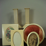 French Ivory Celluloid Picture Frames and Candlesticks - Red Tag Sale Item