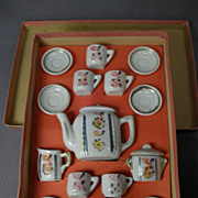 Miniature Children's Tea Set in Original Box - Made in Germany - 1900's