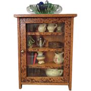 "Wooden Doll House Furniture - Book or Display Cabinet - 1"" Scale - Germany"