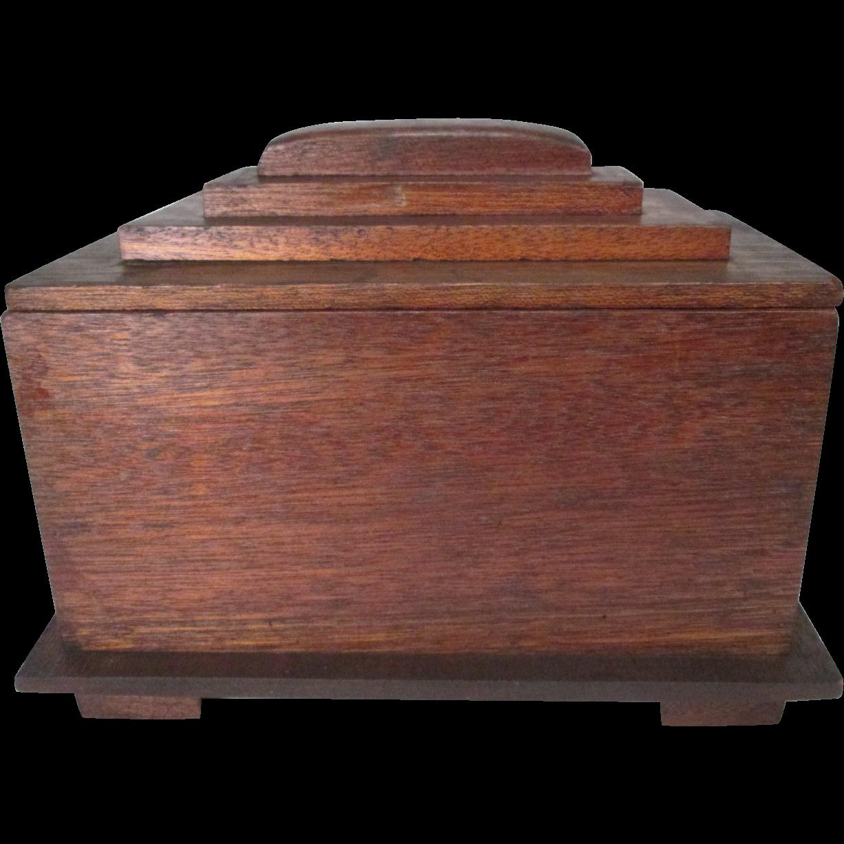 Hand Made Folk Art Cedar Cigar Box