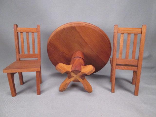 Reserved for s vintage dollhouse furniture dining room set fao from grannymares on ruby lane - Dollhouse dining room furniture ...