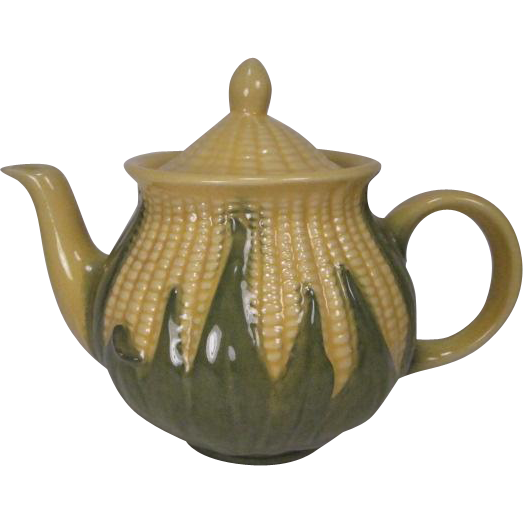 Shawnee Pottery Large Tea Pot #75 - Corn King Pattern