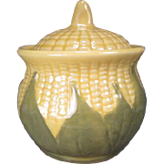 "Shawnee Corn King - Large Sugar Bowl or Drip Jar - 5 1/4"" Tall"