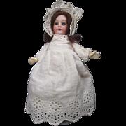 "Miniature Armand Marseille Dollhouse Doll - Bisque Head Glass Eyes - 5 1/2"" Tall"